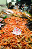 Scampi at fish market Stock Image
