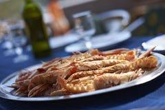 Scampi krabbor Fotografering för Bildbyråer