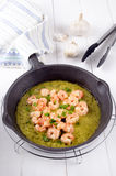 Scampi with melted butter and parsley Royalty Free Stock Photo