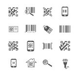 Scan bar and qr code vector icons Stock Photos