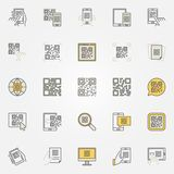 Scan code colorful icons set - vector code scanning creative signs Stock Photo