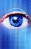 Scan eye Royalty Free Stock Photography