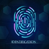 Scan fingerprint biometric identity concept stock photo