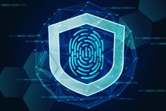 Scan fingerprint biometric identity concept royalty free stock images