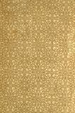Scan the flyleaf of an old book, yellow-gray-brown, with dense and intricate floral pattern. Royalty Free Stock Photography