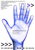 Scan hand. Scanned hand for access royalty free illustration