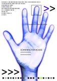 Scan hand royalty free illustration