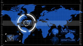 Scan Map stock footage