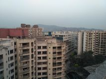 Scan of Mumbai andheri kurla road Stock Photography