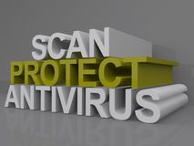 Scan protect and antivirus Stock Image