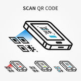 Scan QR code with smartphone vector illustration Stock Image