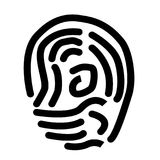 Scan thumb icon on white background. Scan thumb sign. flat style. scan thumb symbol Stock Image