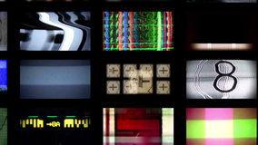 Scan tv wall stock video footage