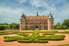 Scanalatura di Egeskov in Danimarca fotografia stock