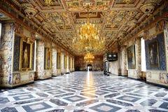 Scanalatura di Frederiksborg (castello) il grande corridoio (Riddersalen) Immagini Stock
