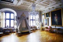 Scanalatura di Frederiksborg (castello) la stanza di andare in giro Fotografie Stock