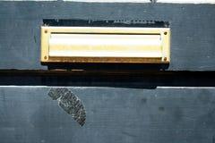 Scanalatura di posta della porta Fotografia Stock Libera da Diritti