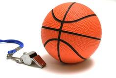 Scanalatura e pallacanestro Fotografie Stock
