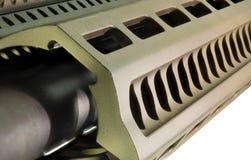 Scanalature del fucile di assalto per tenere l'ottica e le luci fotografia stock