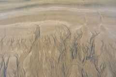 Scanalature dell'acqua in sabbia fotografia stock libera da diritti
