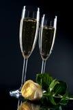 Scanalature di Champagne Immagine Stock