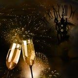 Scanalature di champagne Fotografia Stock Libera da Diritti