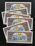 Scanarray cinq billets de banque dans les nominations de 500 Kip Photos stock