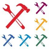 Scandagliare l'icona di simbolo del lavoro Immagine Stock Libera da Diritti