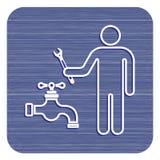 Scandagliare l'icona di simbolo del lavoro Fotografia Stock Libera da Diritti