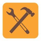 Scandagliare l'icona di simbolo del lavoro Immagini Stock Libere da Diritti