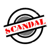 Scandal rubber stamp Royalty Free Stock Photos