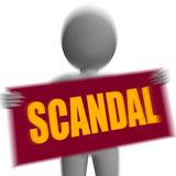 Scandal Sign Character Displays Publicized Incident Or Uncovered Stock Photos