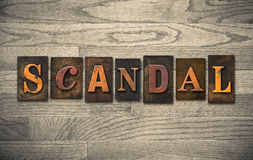 Scandal Wooden Letterpress Theme Royalty Free Stock Images