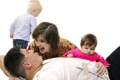 Scandalo della famiglia Fotografia Stock Libera da Diritti