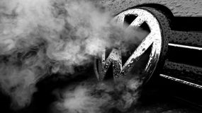 Scandalo di frode di Volkswagen Fotografie Stock Libere da Diritti