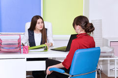 Scandals among employees in the office. Stock Photo