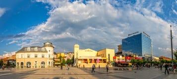 Scanderbeg kwadrat Pristina panoramiczny Zdjęcie Stock