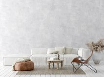 Scandi-boho style home interior background