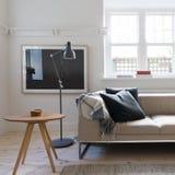 Scandi projektował żywego pokój w art deco australijczyka mieszkaniu Zdjęcie Stock