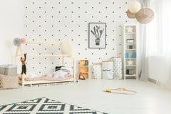Scandi style child room stock images
