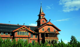 Scandic霍尔门科伦旅馆,奥斯陆,挪威 免版税库存图片