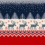 Scandinav рамки границы картины с Рождеством Христовым Нового Года безшовное Стоковые Изображения