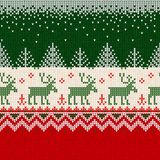 Scandinav рамки границы картины с Рождеством Христовым Нового Года безшовное Стоковое фото RF