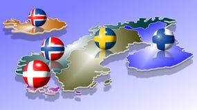 Scandinavië Stock Afbeeldingen