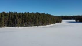 Scandinavië in de lengte van de de winterhommel stock footage