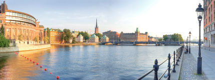 Scandinavia. Panorama of Old Town in Stockholm Stock Photos