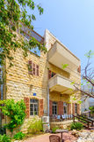 Scandinavia house, in Bat Galim neighborhood, Haifa. HAIFA, ISRAEL - MAY 05, 2017: The old Scandinavia house, in Bat Galim neighborhood, Haifa, Israel Stock Photography