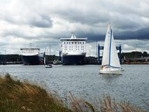 Scandinavia-quay Travemuende. Luebeck-Travemuende, Germany 2014 Royalty Free Stock Photography