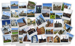 Scandinavia. Traveling around Scandinavia in collage with several shots Royalty Free Stock Photography