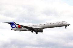 Scandinavian Airlines Bombardier CRJ-900ER NG Stock Image